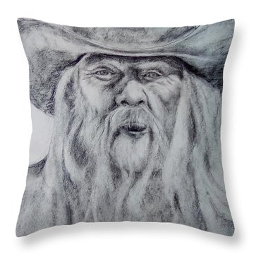 Old Man In A Hat  Throw Pillow