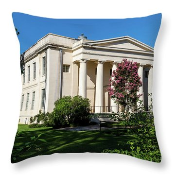 Old Medical College - Augusta Ga Throw Pillow
