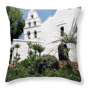 Old Mission San Diego  Throw Pillow