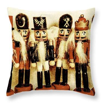 Old Nutcracker Brigade Throw Pillow