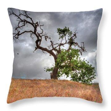Old Oak Tree Throw Pillow