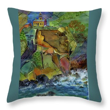 Old Point Loma Lighthouse Throw Pillow