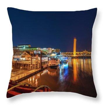 Old Sacramento Panorama Throw Pillow