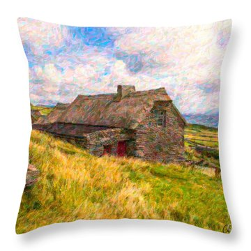 Old Scottish Farmhouse Throw Pillow