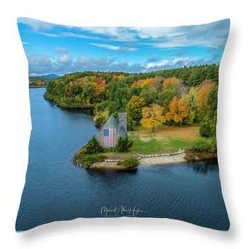 Throw Pillow featuring the photograph Old Stone Church by Michael Hughes