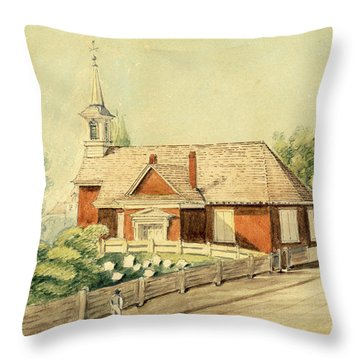 Old Swedes' Church, Southwark, Philadelphia Throw Pillow