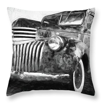 Old Truck  - Painterly Throw Pillow