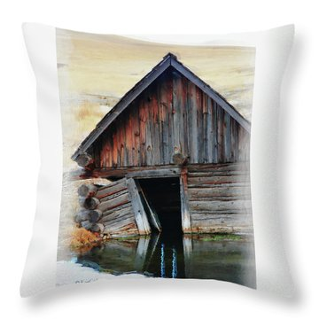 Old Well House #2 Throw Pillow