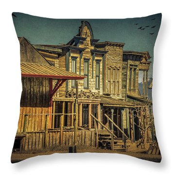 Old Western Town Throw Pillow
