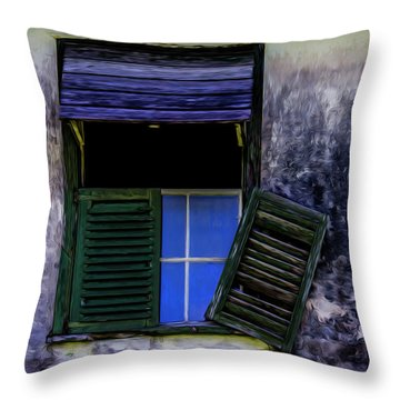 Old Window 2 Throw Pillow