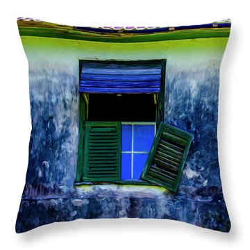 Old Window 3 Throw Pillow