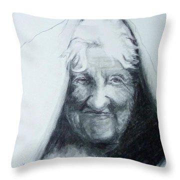 Old Woman Throw Pillow