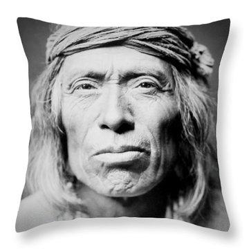 Old Zuni Man Circa 1903 Throw Pillow