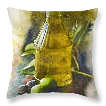 Olive Oil Throw Pillow