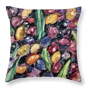 Olives Ready For Pressing Throw Pillow