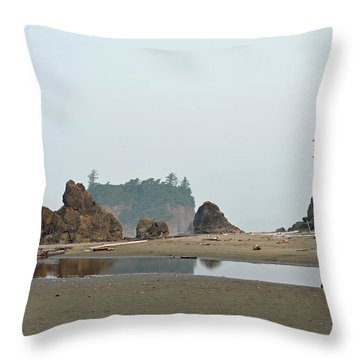 Olympic National Park Seastacks Throw Pillow