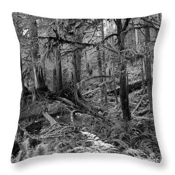 Olympic Rainforest Throw Pillow