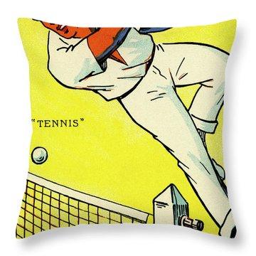 Olympics 1924 Paris France Tennis Championship Throw Pillow