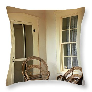 On Doc Woods' Porch Throw Pillow