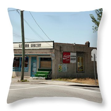 Throw Pillow featuring the photograph On Gilmore by Juan Contreras