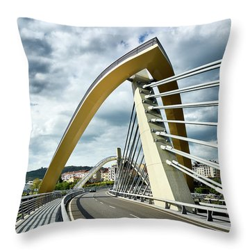 Millennium Bridge In Ourense, Spain Throw Pillow