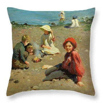 On The Sands Throw Pillow