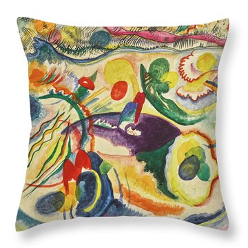 On The Theme Of The Last Judgment - Zum Thema Jungstes Gericht Throw Pillow