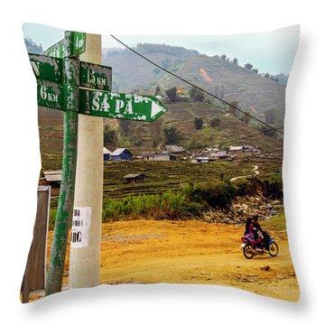 On The Way To Sapa, Vietnam Throw Pillow
