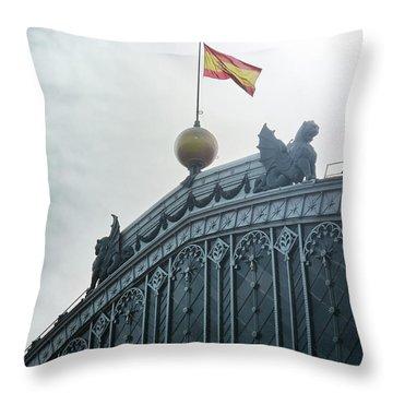 On Top Of The Puerta De Atocha Railway Station Throw Pillow