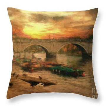 Once More To The Bridge Dear Friends Throw Pillow