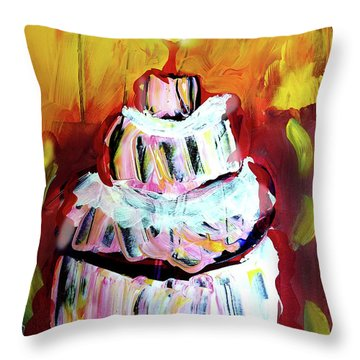 One Candle Throw Pillow