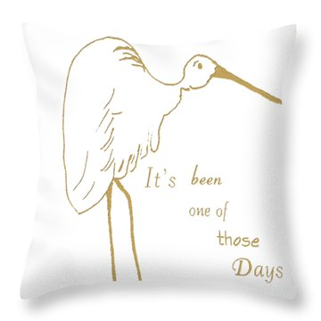 Throw Pillow featuring the painting One Of Those Days by Belinda Landtroop