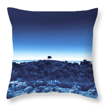 One Tree Hill - Blue - 3 Throw Pillow