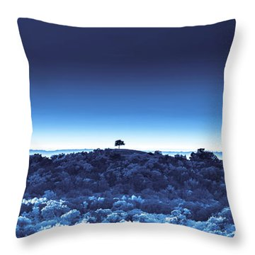 One Tree Hill - Blue 4 Throw Pillow