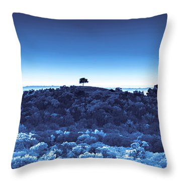 One Tree Hill - Blue Throw Pillow