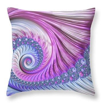 Opal Nautilus Throw Pillow
