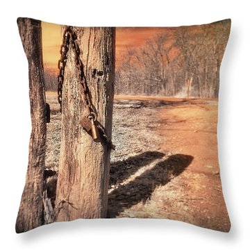 Open Locked Throw Pillow