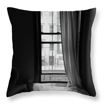 Throw Pillow featuring the photograph Open Window by Edward Lee