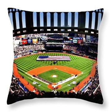 Opening Day Yankee Stadium Throw Pillow