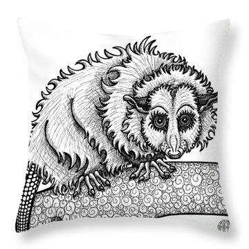Opossum Throw Pillow