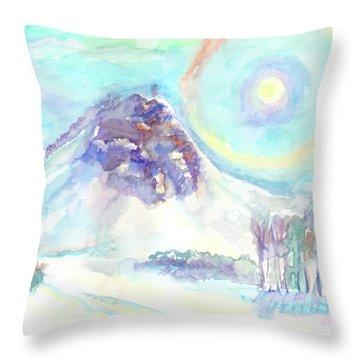Throw Pillow featuring the painting Optical Phenomenon - Halo by Dobrotsvet Art