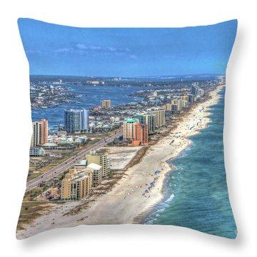 Orange Beach East Throw Pillow