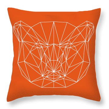 Orange Bear Throw Pillow