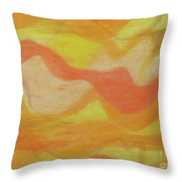 Orange Colors 1 Throw Pillow
