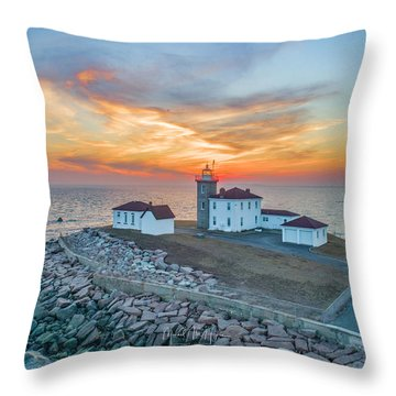 Orange Dreamsicle At Watch Hill Throw Pillow