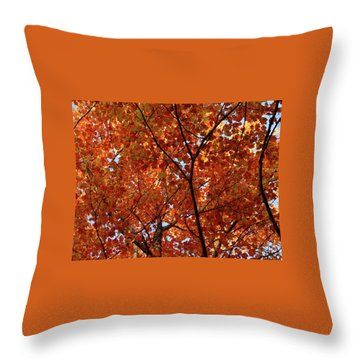 Orange Everywhere Throw Pillow