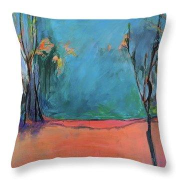 Orange Lake Throw Pillow