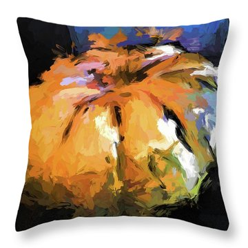 Orange Pumpkin Throw Pillow