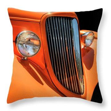 Orange Vision II Throw Pillow