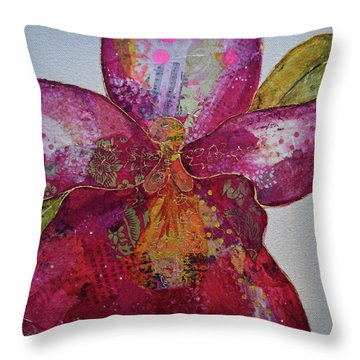 Orchid Passion II Throw Pillow